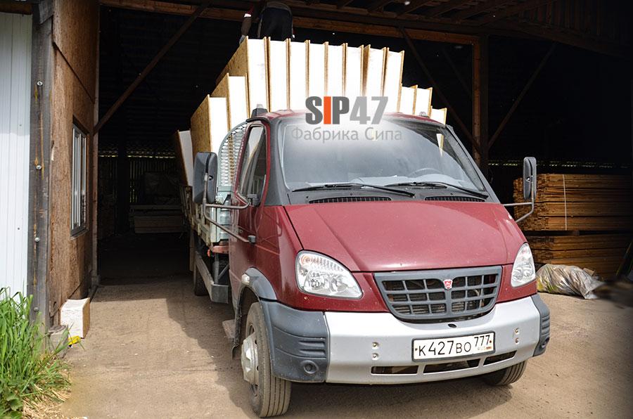 СИП- панели и пиломатериал для строительства пристройки