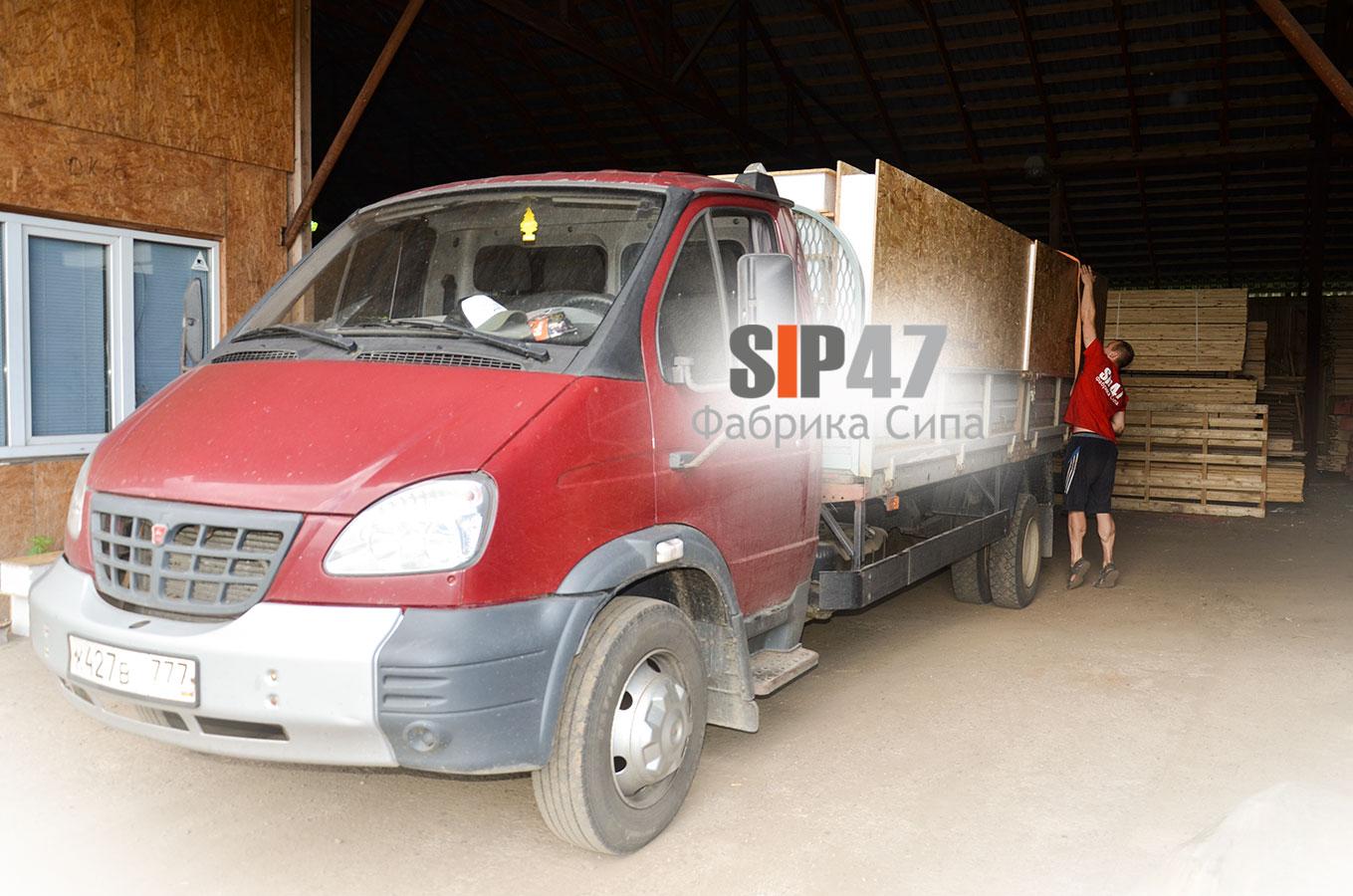 Отгружены СИП- панели в деревню Большие Горки