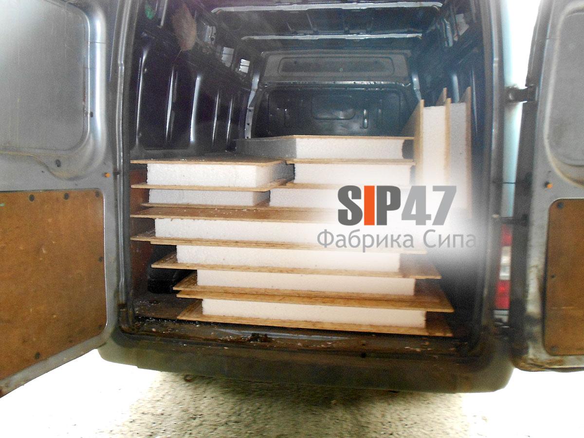 СИП- панели 124 мм для строительства курятника отгружены в деревню Пеники