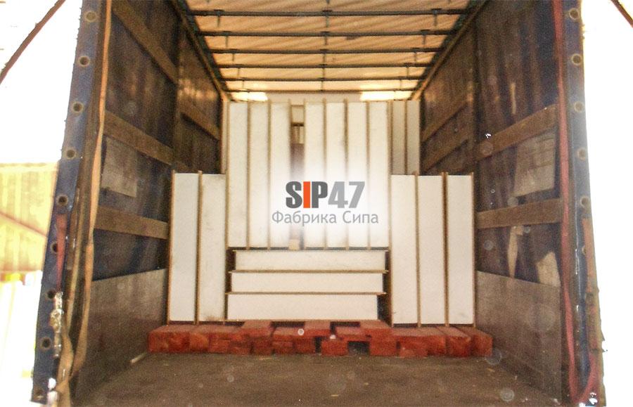 Отгружен комплект СИП- панелей и пиломатериалов для строительства пристройки