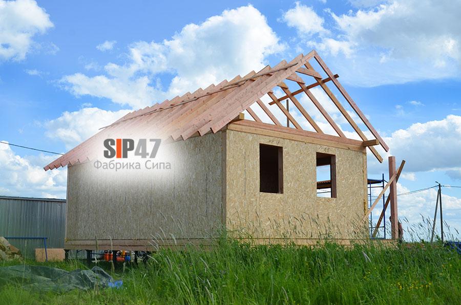 Строительство СИП- дома по проекту №54 в городе Пушкин