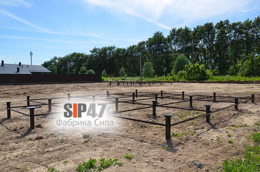 Началось строительство двух домов из СИП- панелей по проекту №59 в посёлке Ропша