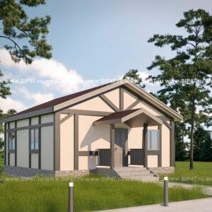 Дом из СИП панелей 64 м²