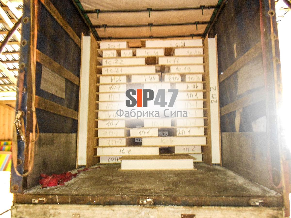 Отгружен домокомплект из классических СИП- панелей