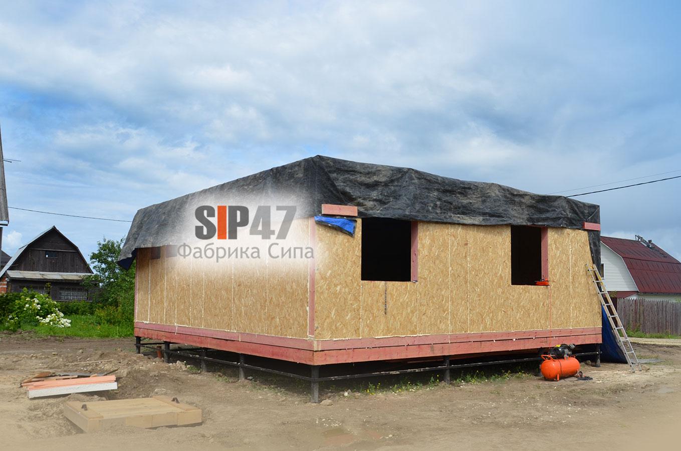 Строительство двух одинаковых домов по проекту №59 в посёлке Ропша.