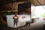 Доставка СИП- панелей в посёлок Лебяжье