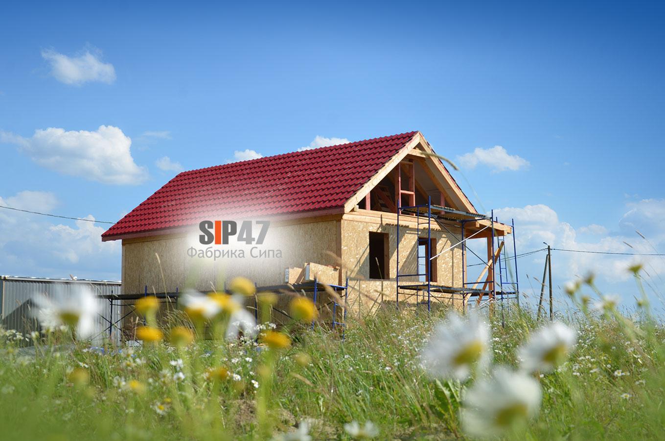 Дом из СИП- панелей по проекту № 54 в городе Пушкин