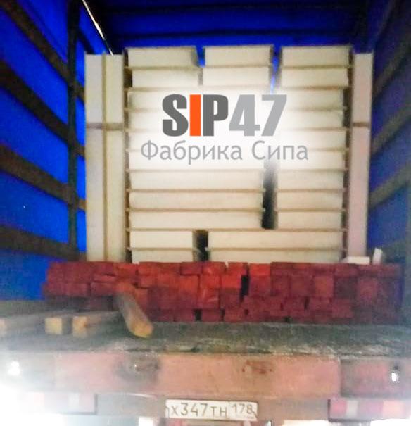 В посёлок Сиверский отгружены СИП- панели