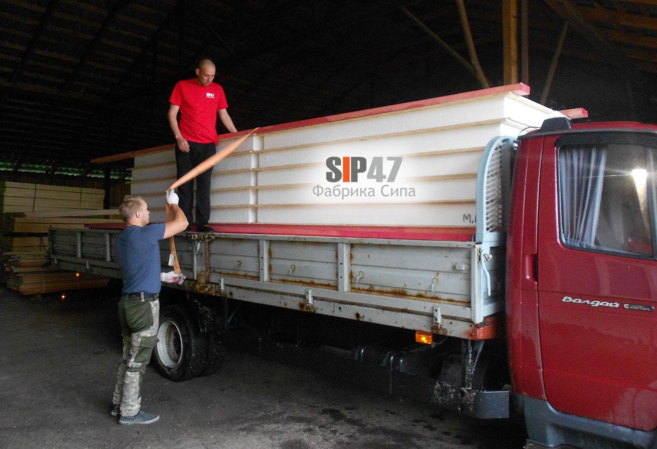 Доставка комплекта СИП- панелей и пиломатериалов в Сосновый Бор