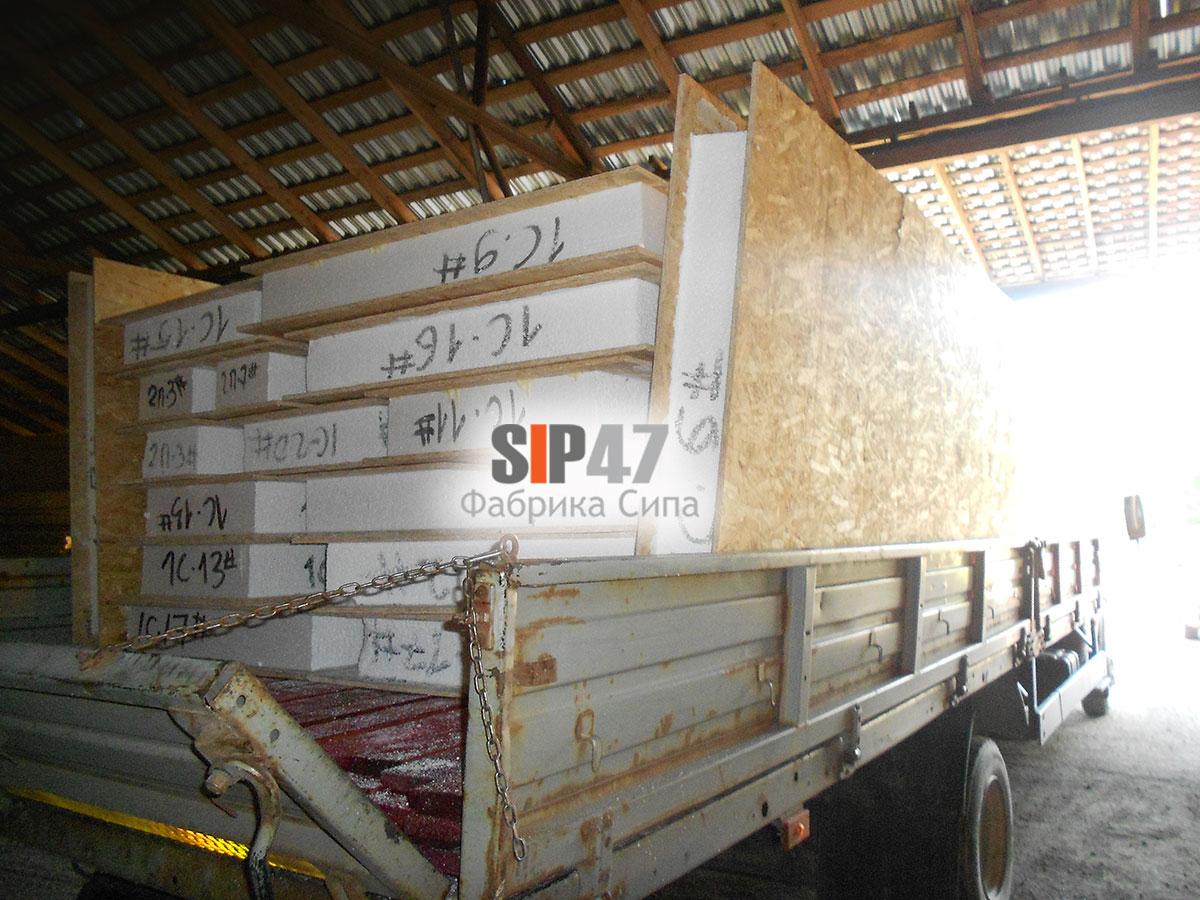 Доставка стеновых СИП- панелей в деревню Большие Горки