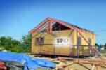 Продолжается монтаж двух СИП-домов в поселке Ропша по проекту №59