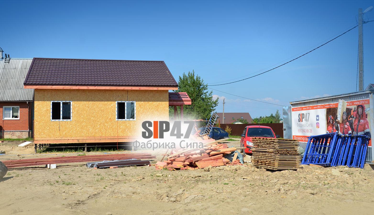 Строительство двух одинаковых домов в поселке Ропша