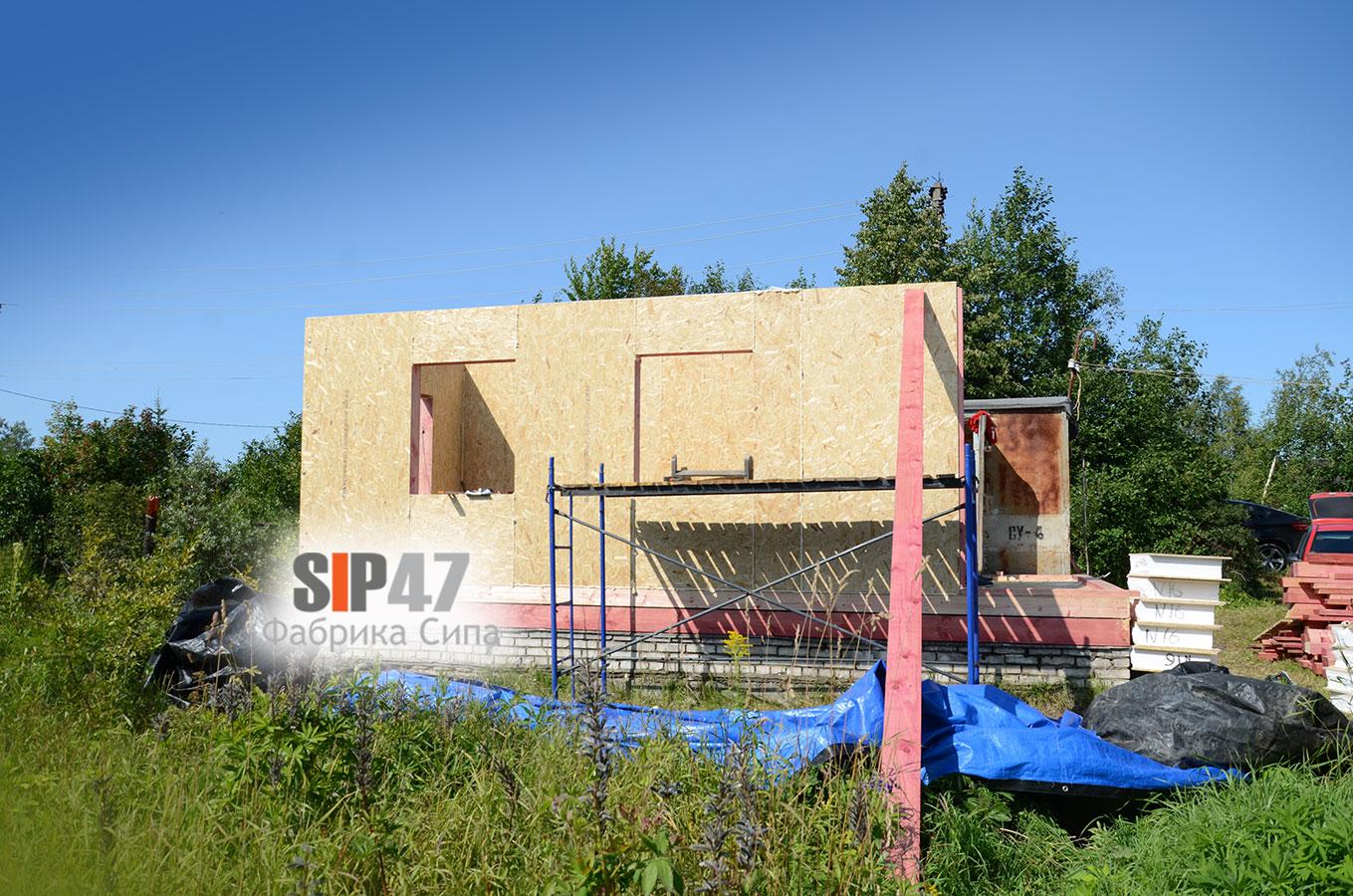 Строительство пристройки в СНТ Пламя Гатчинский район