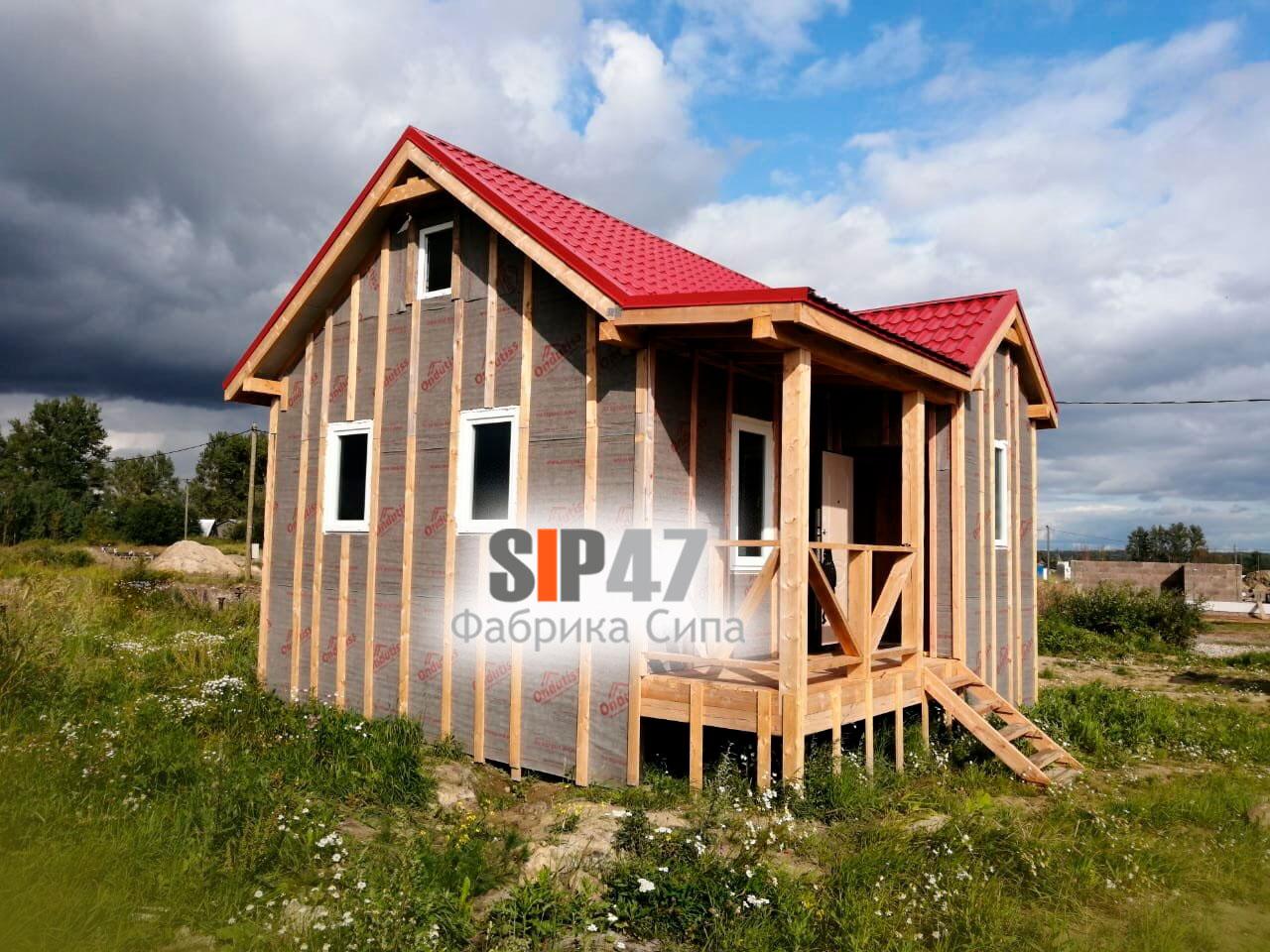 Установлены окна в доме из СИП- панелей по проекту № 54