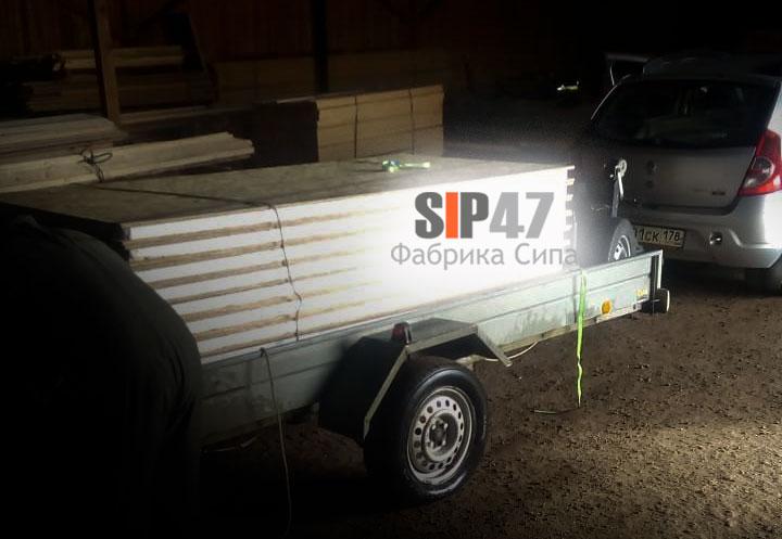 Самовывоз СИП панелей 68х1250х2500 мм в деревню Гостилицы
