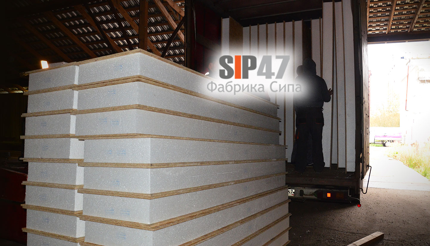 Отгрузка СИП- панелей в СНТ Тавры, деревня Разметелево