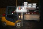 Отгрузка гаража из СИП- панелей в город Выборг