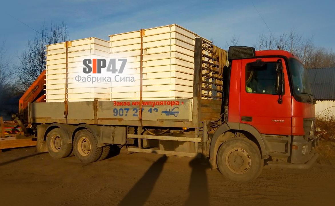 СИП- панели из СМЛ (стекломагнезита) отгружены в деревню Скотное