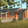 Дом из СИП панелей с гаражом