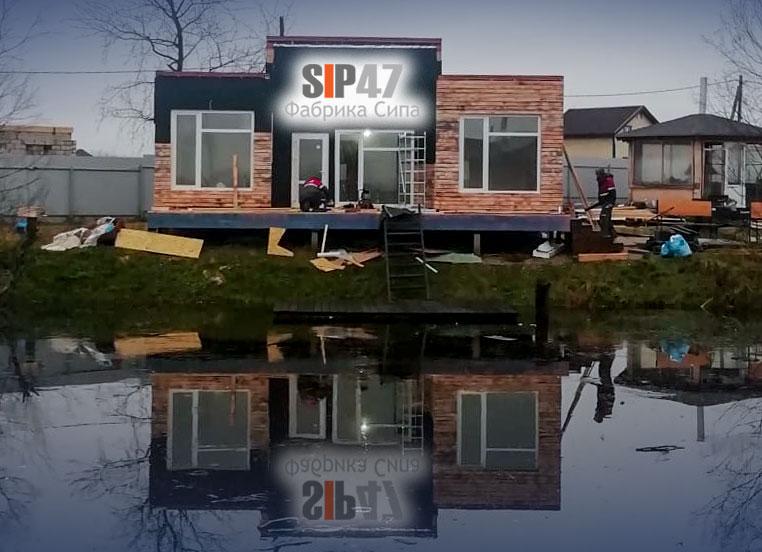 Заканчиваем строительство СИП- дома на базе отдыха в Санино