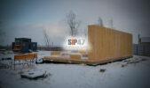 Строительство гостевого СИП- дома в деревне Санино