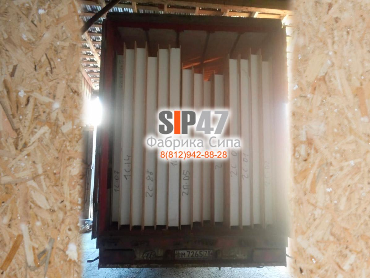Отгрузка СИП-домокомплекта по проекту №62 в город Любань