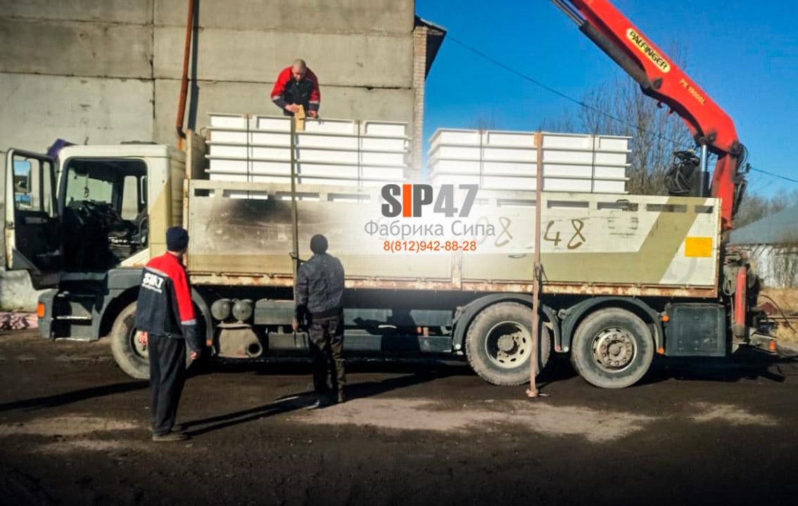 Доставка СМЛ-СИП-панелей в город Волосово