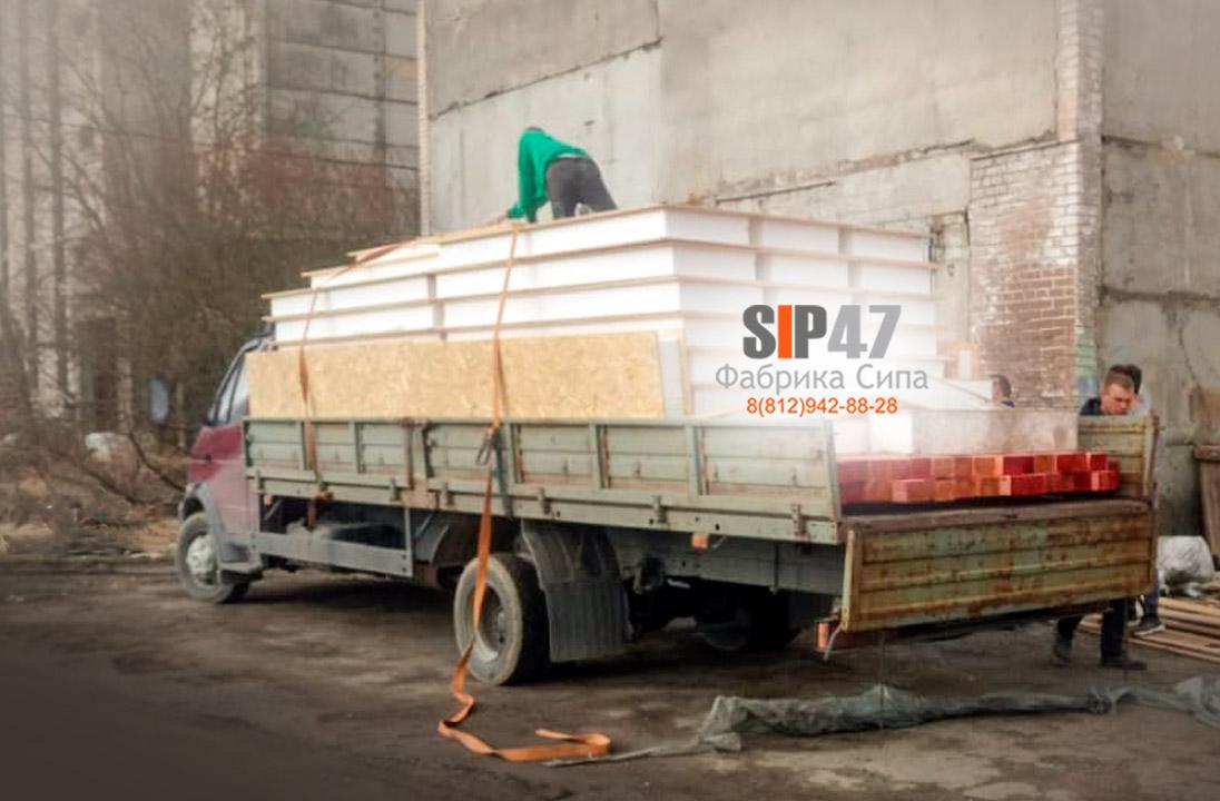 Поэтапная отгрузка СИП-домокомплекта в Вырицу