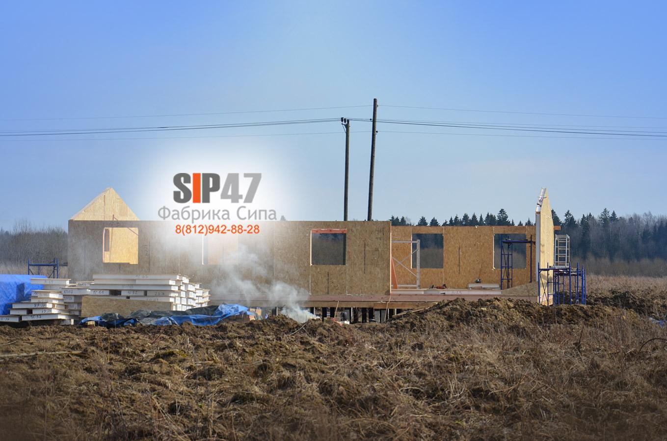 Идет строительство СИП-дома в посёлок Шелково