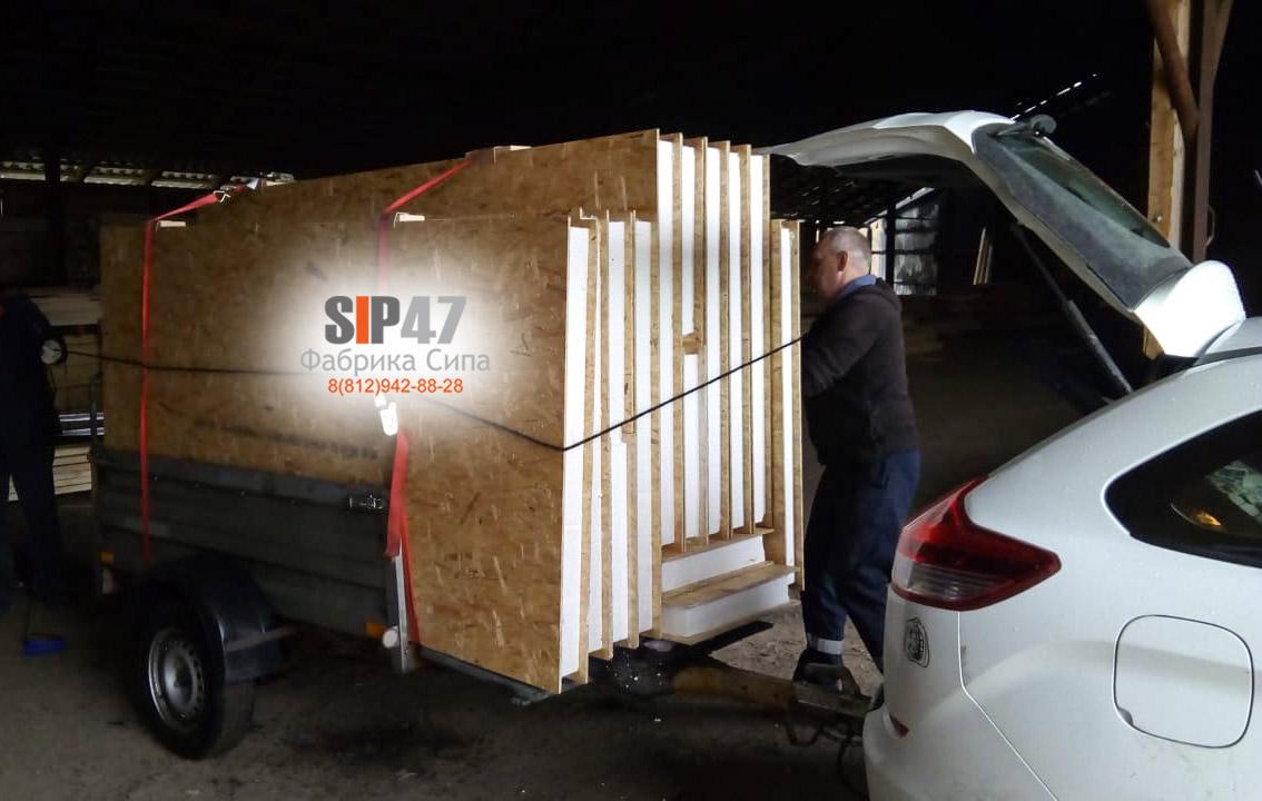 Самовывоз СИП-панелей для строительства курятника