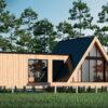 Дом из сип панелей 74 м² Barnhouse