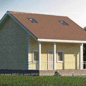 Дом из сип панелей 113 м²
