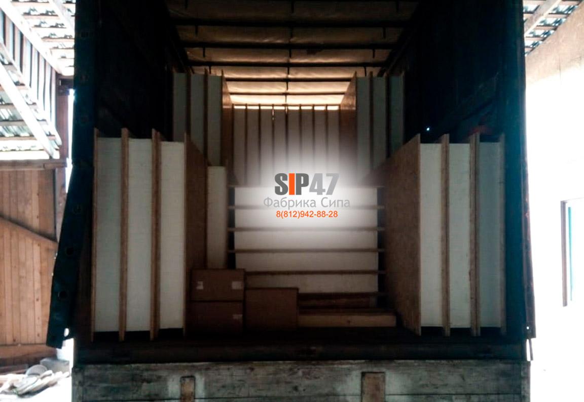 Домокомплект из СИП-панелей отгружен в посёлок Назия