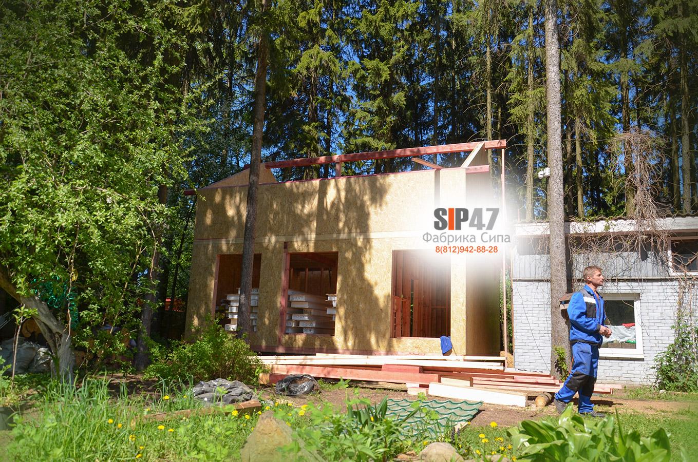 Строительство СИП-дома по проекту № 67в городе Всеволожск