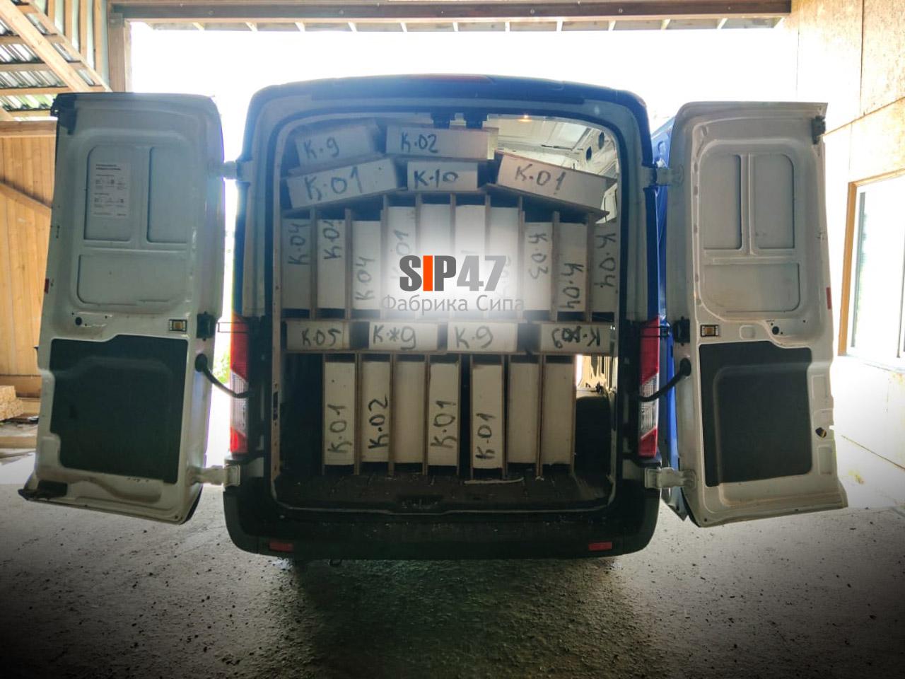 Доставка кровельных СИП-панелей в деревню Борисово