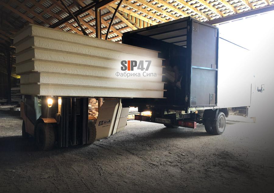 Отгрузка СИП-панелей для самостоятельного строительства хозблока