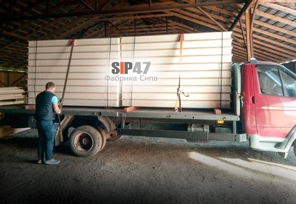 Отгрузка СИП-панелей в посёлок Белоостров