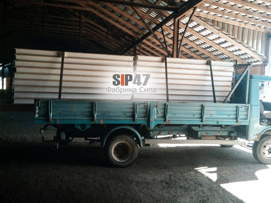 Отгружены СИП-панели в деревню Разбегаево