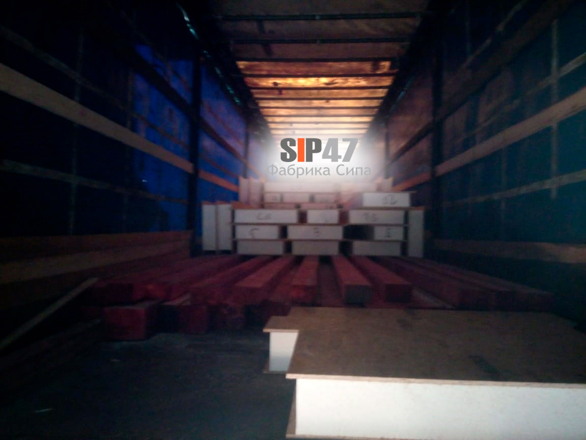 Отгружен домокомплект из СИП-панелей в коттеджный поселок Андреевка