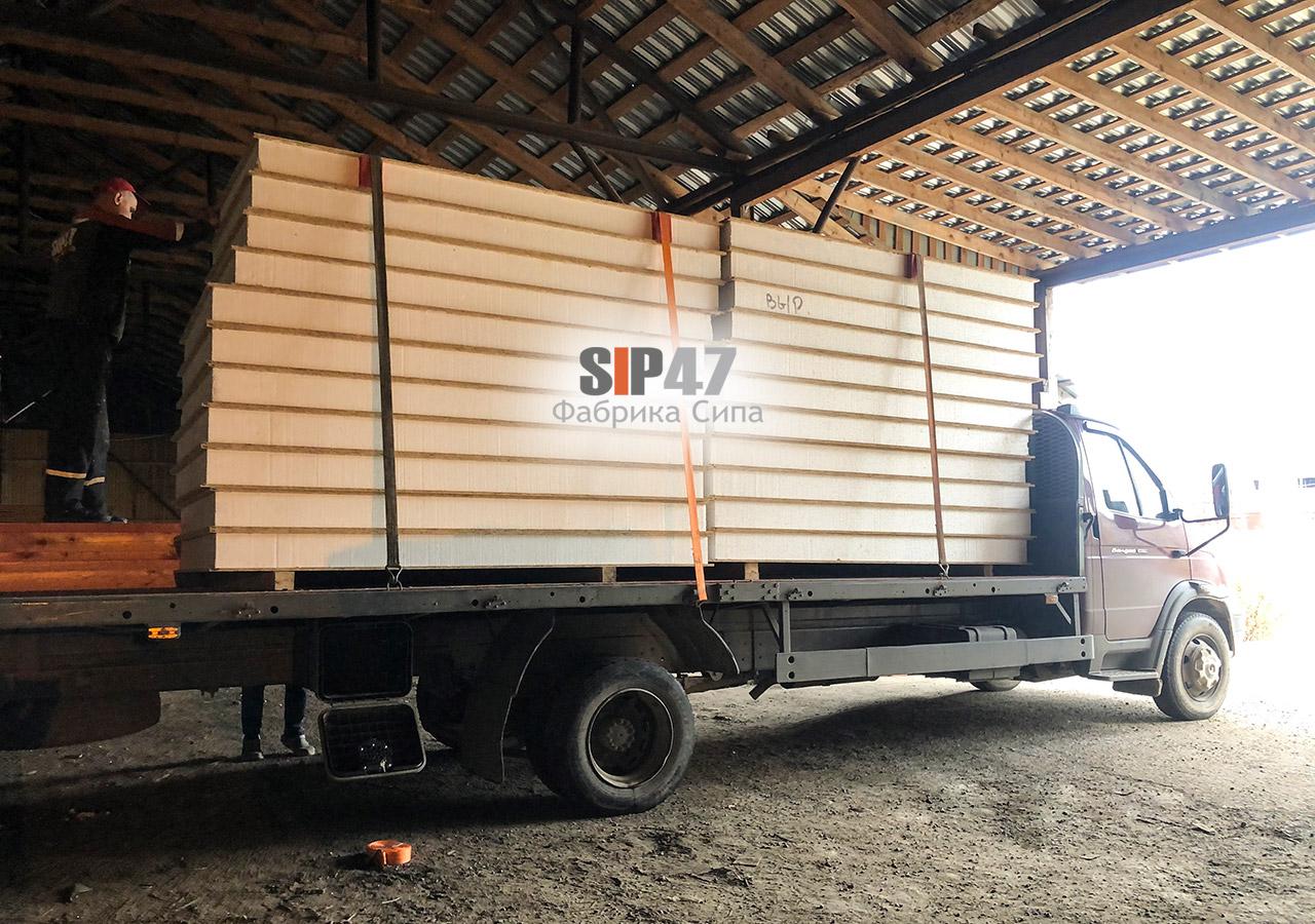 Доставка СИП-панелей и пиломатериалов в Вырицу