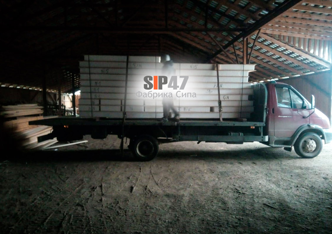 Отгружена пристройка из СИП-панелей в деревню Чёрная Лахта
