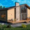 Дом из СИП-панелей 155 м²