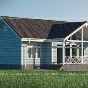 Дом из сип панелей 91 м²
