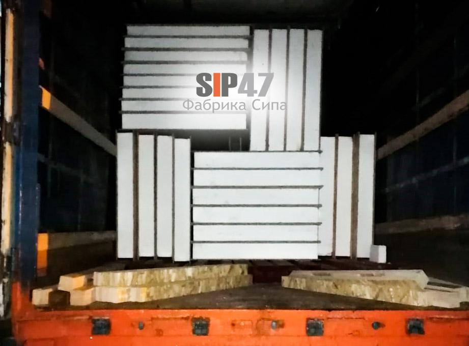 Доставка СИП-панелей в деревню Лужа