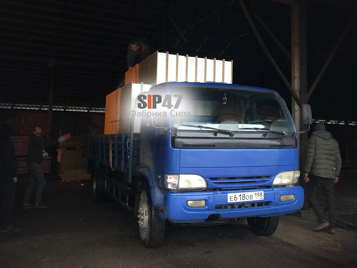 Доставка комплекта СИП-панелей в город Сестрорецк