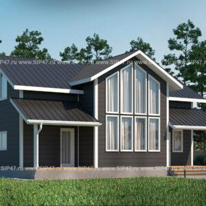 Дом из сип панелей со вторым светом 177,8 м²
