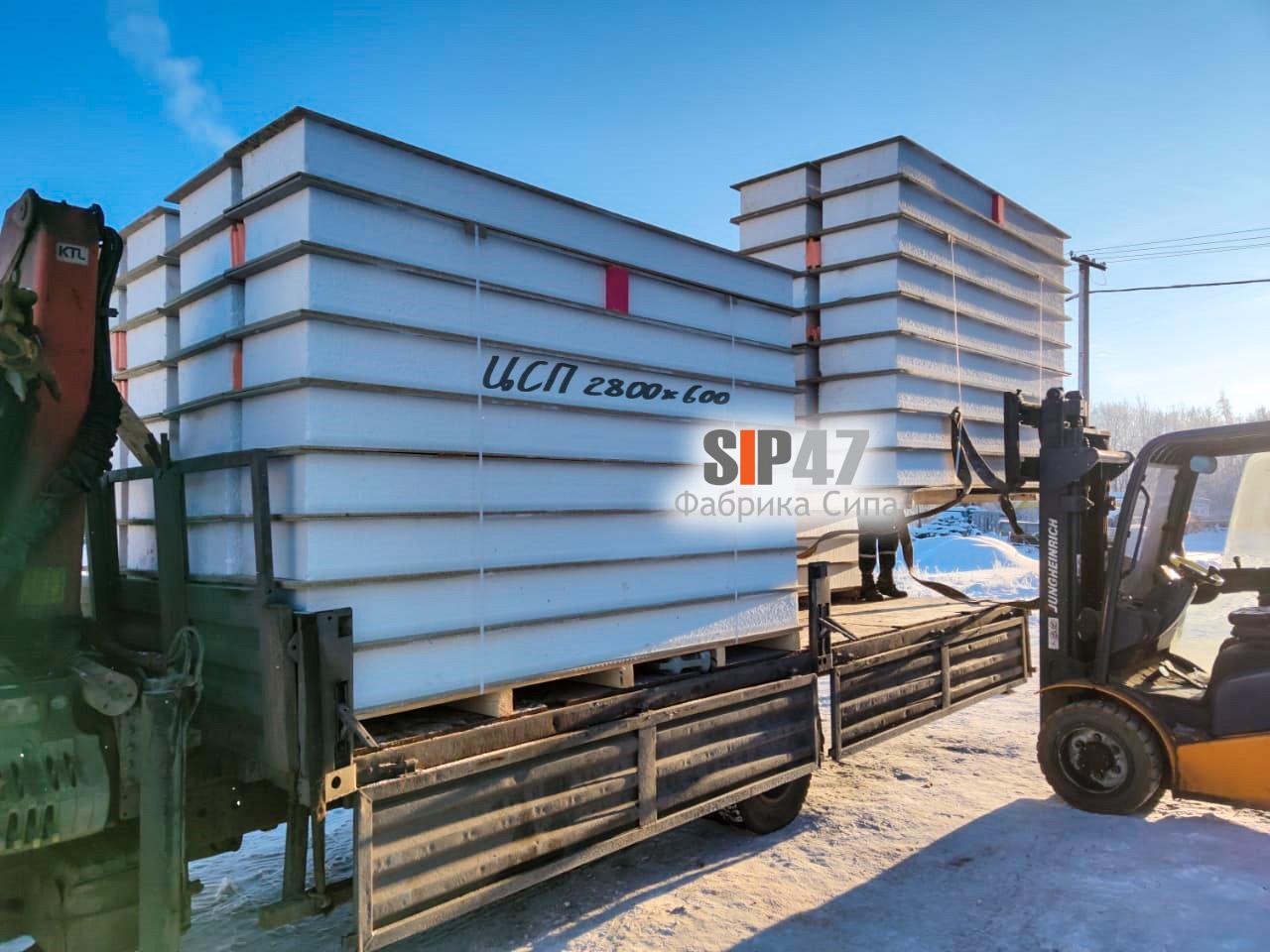 Доставка СИП-панелей из ЦСП в Сусанино Гатчинский район