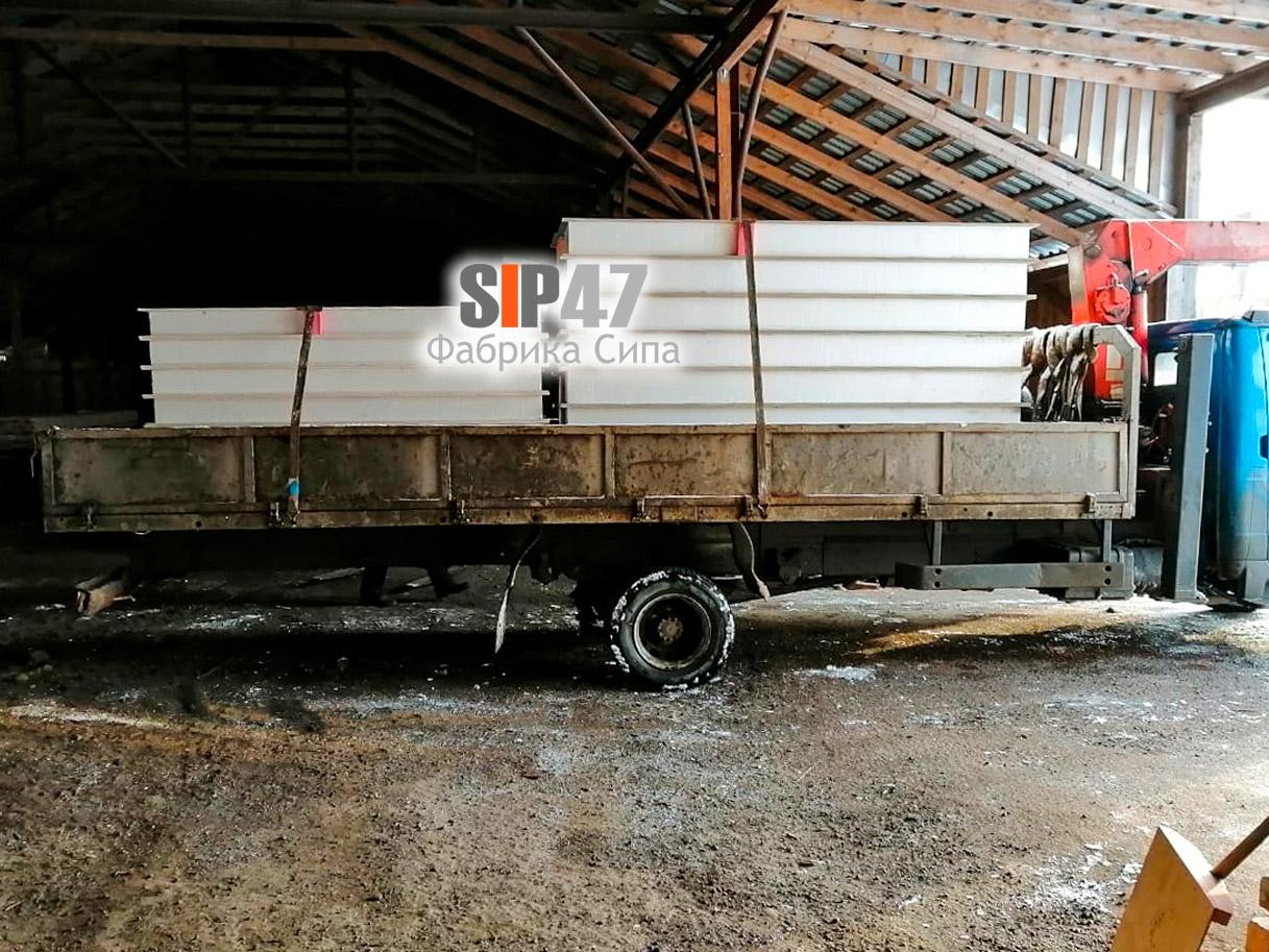 Доставка СИП-панелей из СМЛ и ЦСП в посёлок Сусанино.