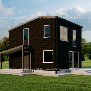 Дом из СИП панелей 112 м²