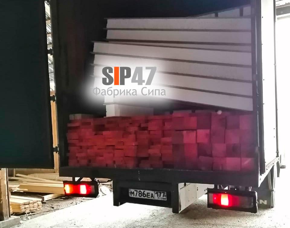 Доставка СИП-панелей и пиломатериалов в СНТ Разлив